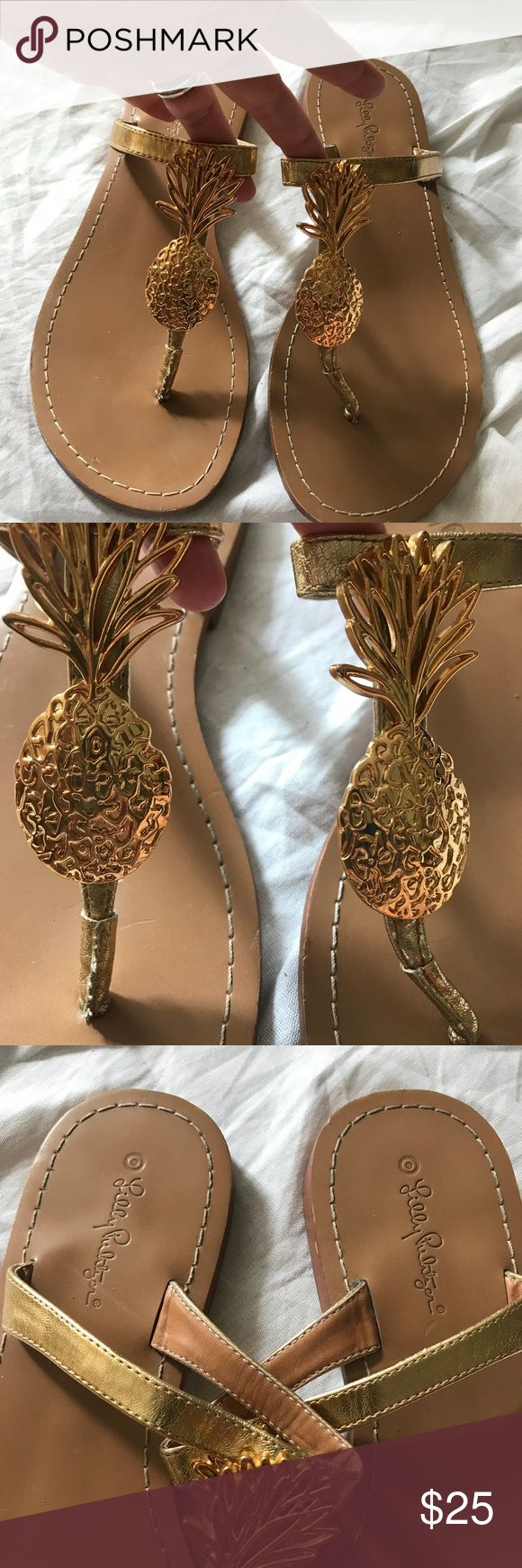 Lilly Pulitzer for Target Gold Pineapple Sandals 8 Lilly Pulitzer for Target Gold Pineapple Sandals 8. Summer is coming and these will look cute with shorts and maxi dresses. Please ask questions! Lilly Pulitzer for Target Shoes Sandals