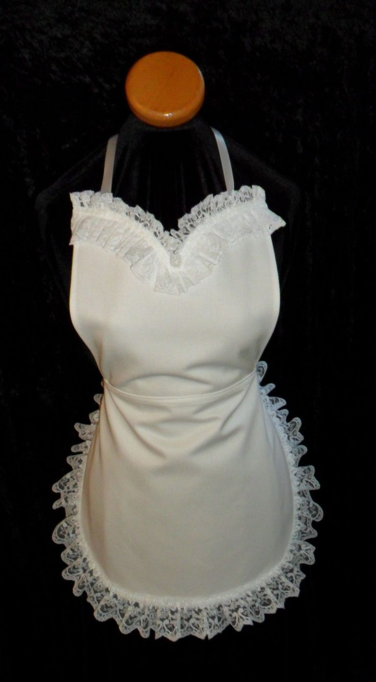 White lace apron ebay - Victorian Edwardian Style French Maids Cotton Lace Apron Hand Made In England