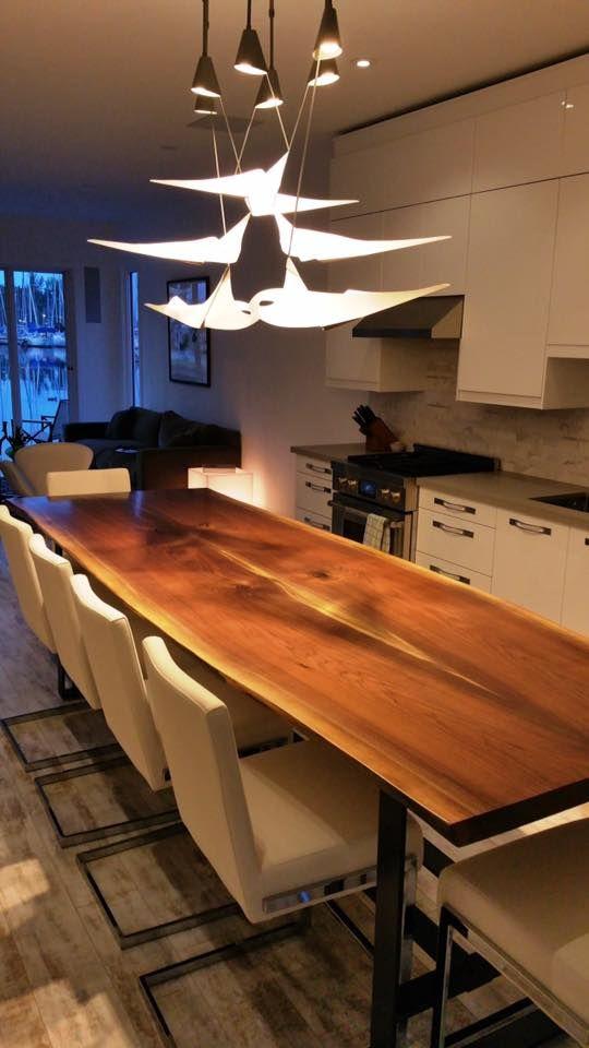Live Edge Table, Black Walnut Table, Wood Slab Table, Black, Reclaimed Wood