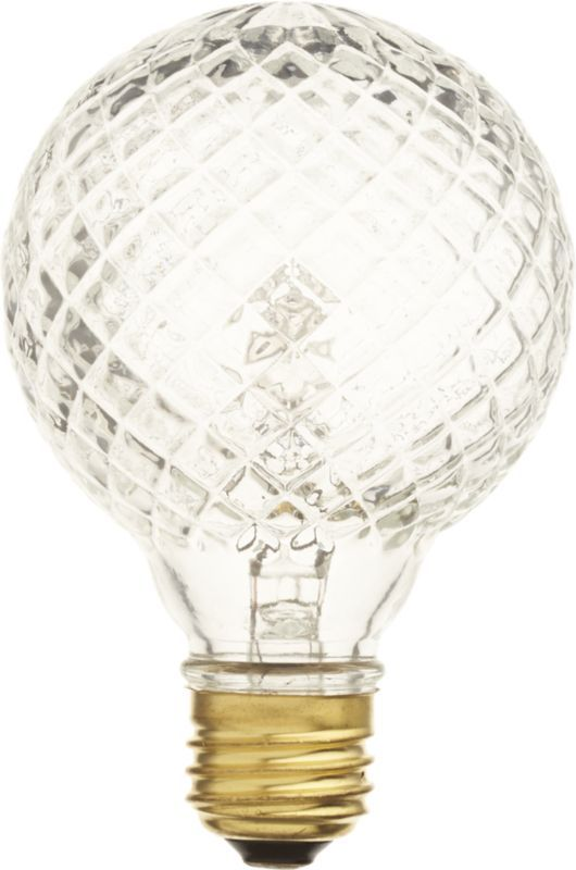 cut glass halogen 45W light bulb-- A zillion times cheaper than my dream version