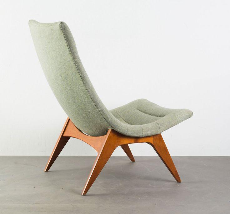 Yngve Ekström Attributed; Beech Lounge Chair by Olof Persons Fatoeljindustri, c1955.