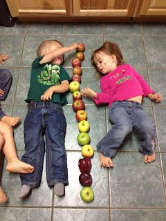 Toddler/Preschool Apple Measuring (please check out my website www.preschooluncut.com or like my FB pg www.facebook.com/preschooluncut