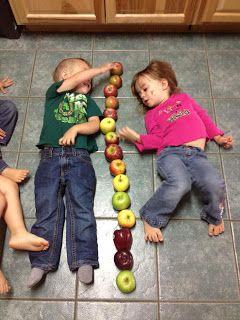 meten met appel - hoeveel appels zijn wij groot