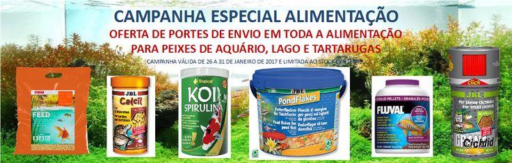 Campanha Especial Alimentação - Portes Grátis em Todos os Alimentos Para Peixes e Tartarugas | Aquacomets - Tudo para Aquariofilia e Lagos Ornamentais