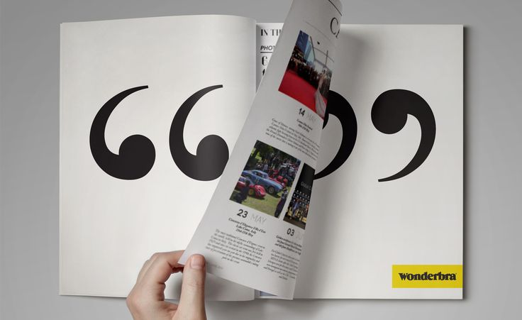 Concept and design of the magazine ad for Wonderbra