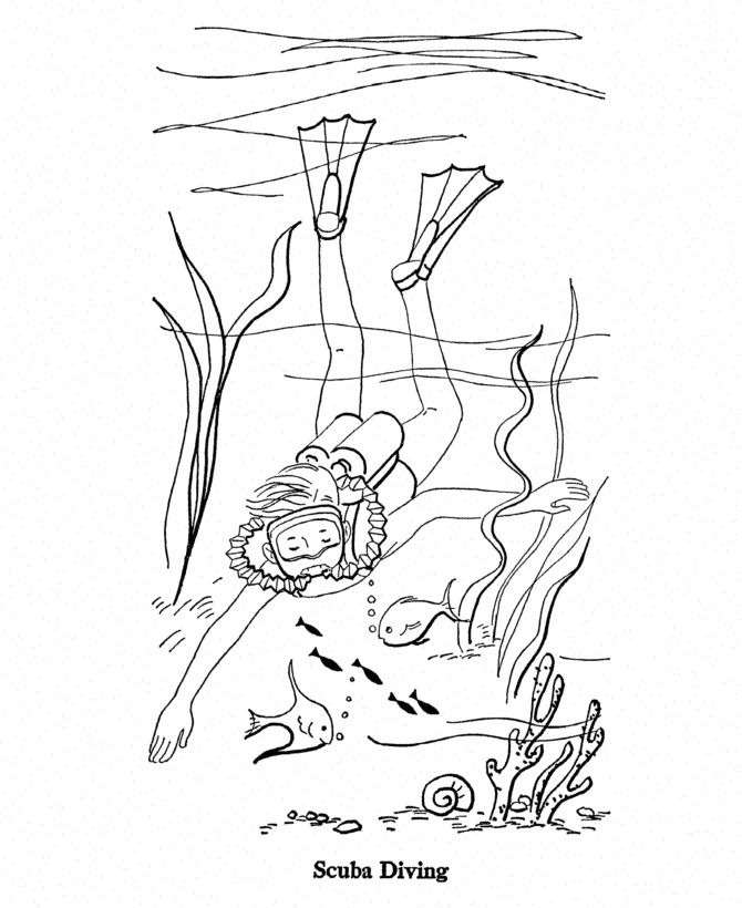 01 Summer 01 Gif 670 820 Scubadivingmagazine Summer Coloring Pages Coloring Pages Summer Coloring Sheets