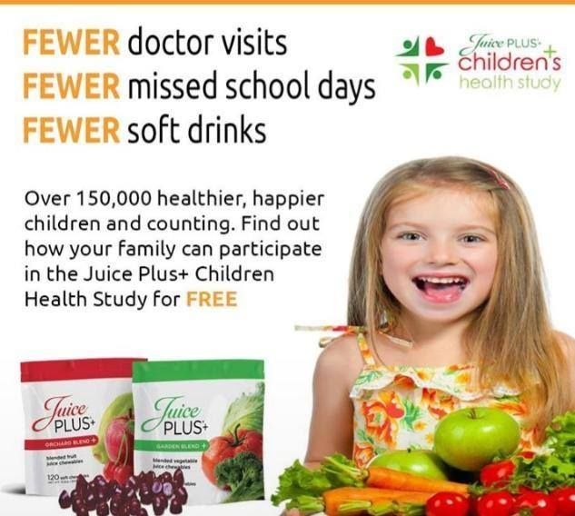 Does your child's vitamin have research findings like this behind it? Children eat free with the JP Children's Health Study.  www.donnacodell.juiceplus.com