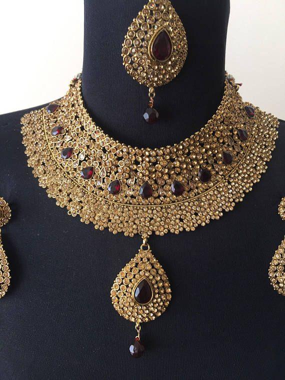 India joyería nupcial conjunto