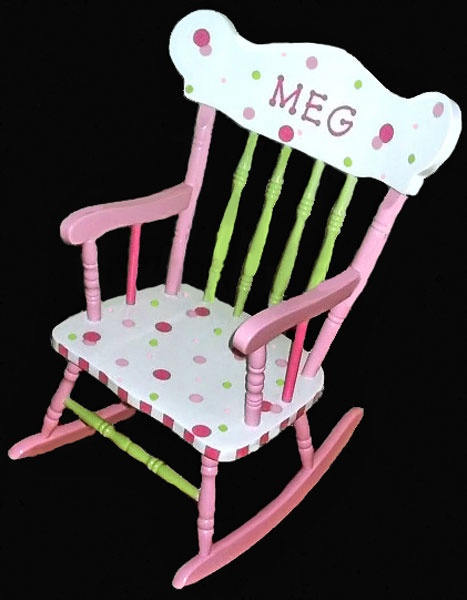 Child's Rocking Chair - Diva Dots
