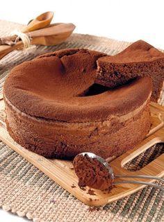 Cake húmeda de chocolate.