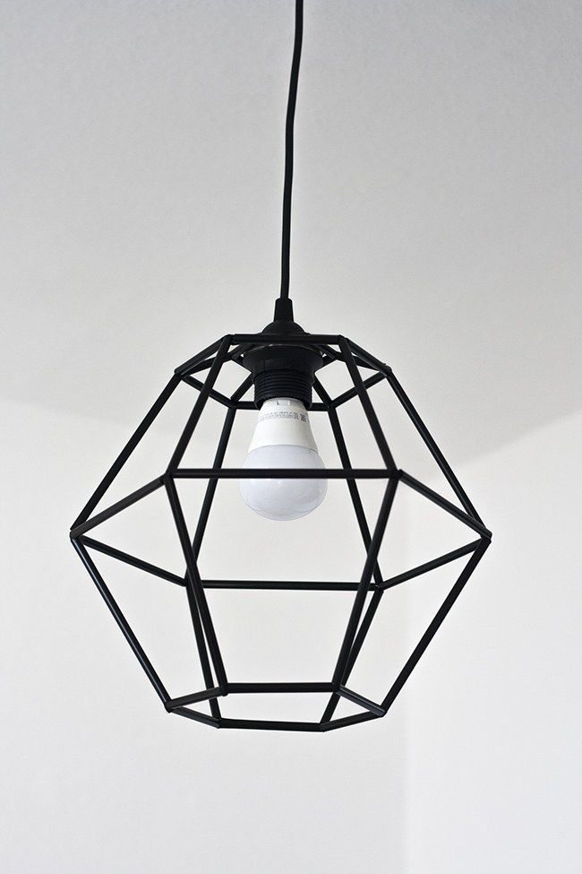 10 Easy Diy Light Fixtures You Can Do On A Budget Diy Pendant Light Geometric Pendant Light Diy Light Fixtures