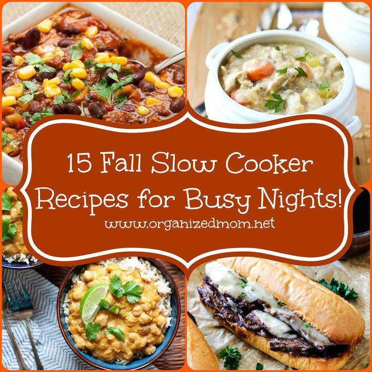 15 Fall Slow Cooker Recipes for Busy Weeknights