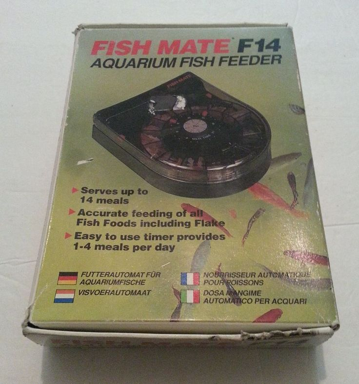 Fish Mate F14 Aquarium Fish Feeder In Box TESTED AND WORKING FINE