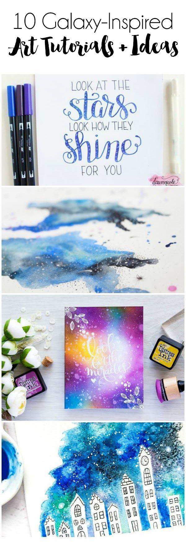 10 Galaxy-Inspired Art Tutorials + Ideas
