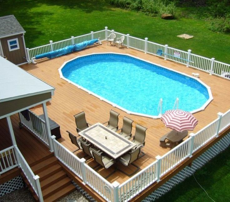1000 ideas about oval above ground pools on pinterest for Above ground oval pool deck plans