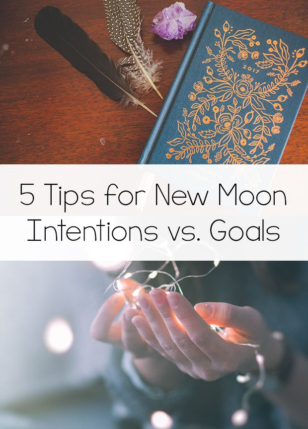 5 Tips for New Moon Intentions vs. Goals As my monthly New Moon box,Nova Luna, has grown, I've gotten more and more questions about New Moon Intentions, and more specifically, how to pick one. I already have a blog post about my New Moon Intention ritual, but I thought I'd write a post about the …