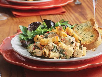Chicken 'n' Spinach Pasta Bake Is Your Go-To Weeknight Casserole | Southern Living