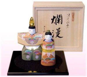 雛人形(木彫り、一刀彫)
