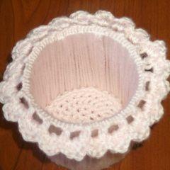 Cardboard Crochet Pencil Holder ~ FREE Crochet Pattern