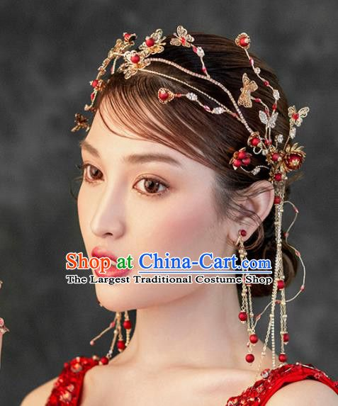 b99f16caf Chinese Ancient Handmade Bride Tassel Hair Clasp Hairpins Traditional  Classical Wedding Hair Accessories for Women