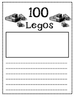Give kids 100 legos and they have to build something and draw it and describe it