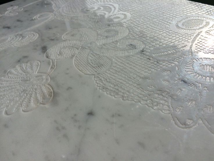 Lace Hand Made on Carrara