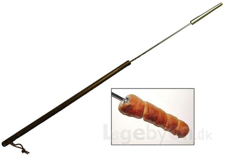 Snobrødspind m. træskaft, L: 1 meter