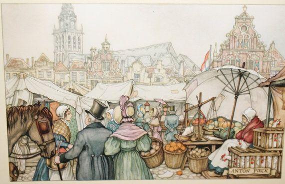 ANTON PIECK - Farmer's Market - PRINT - perfect for framing