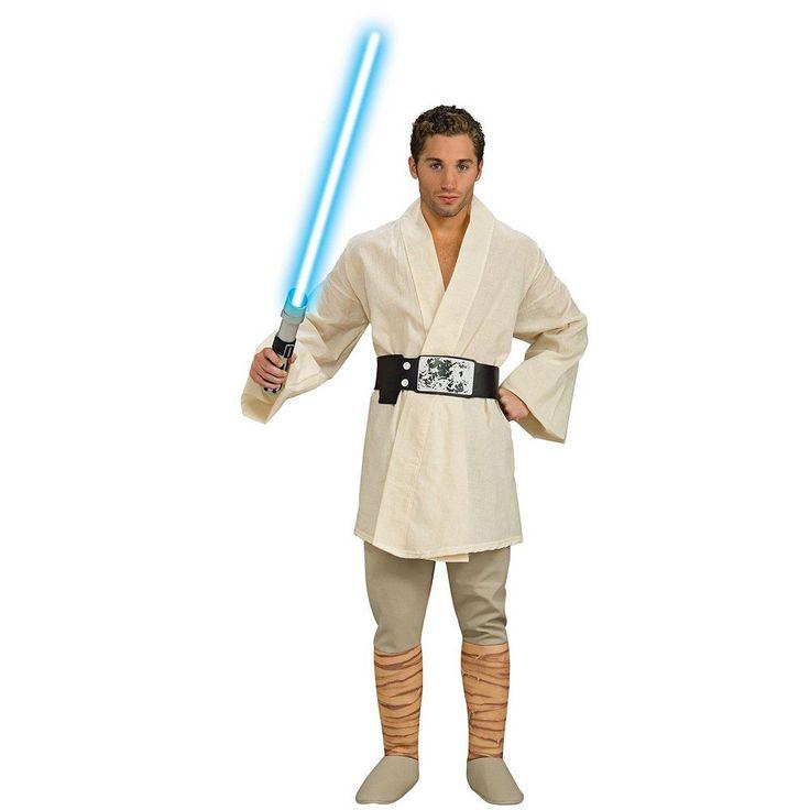 Star Wars Deluxe Luke Skywalker Costume - Adult, Men's, White