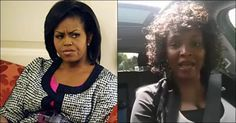 """GREAT VIDEO! Smug Michelle's Nasty Mouth SILENCED Z by a black woman.  Michelle told a predominantly black audience that it didn't matter who was on the ballot, that they should vote Democrat.  This woman says """"I'm not voting Democrat...no one owns my vote....I am not a slave.  I'm not on that plantation.""""  She reminds people that white people were not the only ones who owned slaves"""
