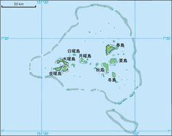 チューク諸島 チューク諸島の地図(日本統治下の地名)- Wikipedia