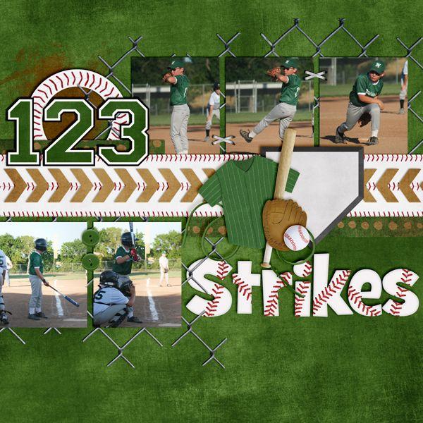 baseball scrapbook layout ideas - Google Search
