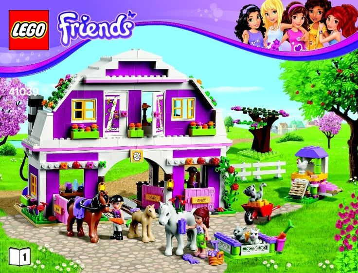 View LEGO instructions for Sunshine Ranch set number 41039 to help you build these LEGO sets