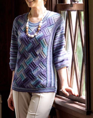バスケット編みのセーター