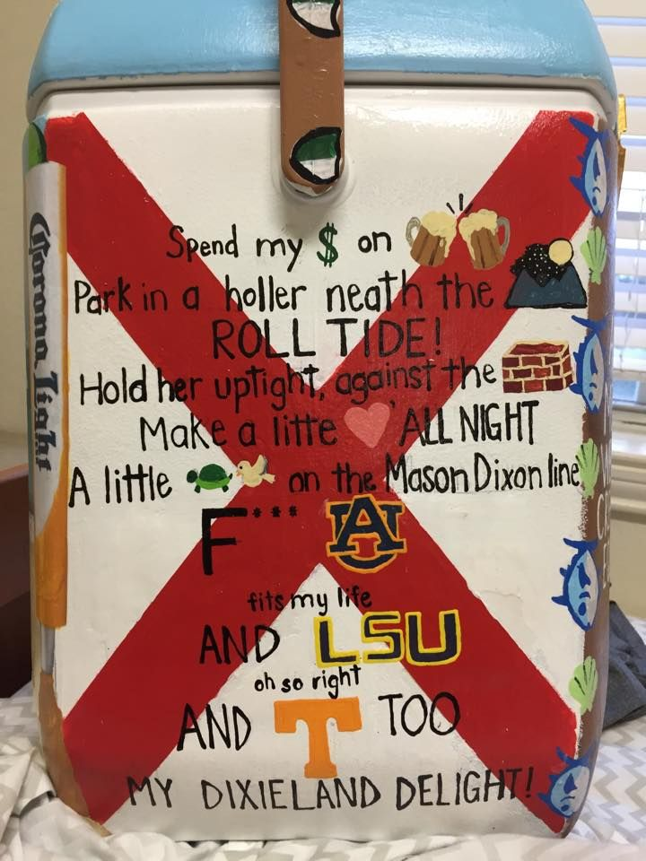 Alabama Fight Song Cooler | The Cooler Connection on Pinterest