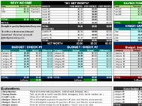 Finally found a budget excel worksheet that works for me!!  It has a space for projected and actual amounts for monthly budgeting and a space where I can put my 'Debt Snowball'.