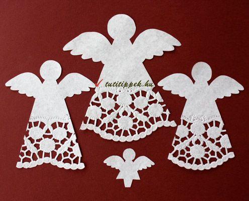 csipkes-angyal2 angyal totrtapapírból