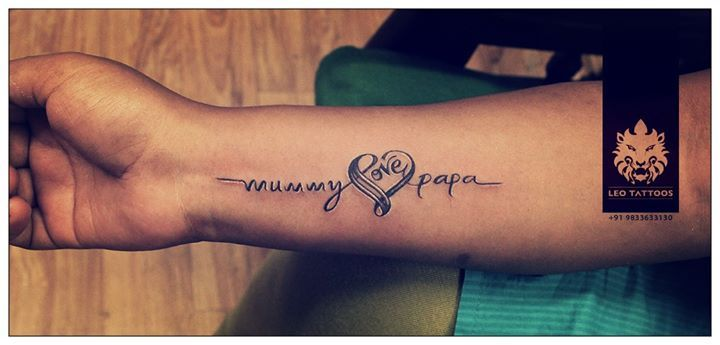 love mom dad respect wristtattoo tattoo leotattoo matunga mumbai india tattoos. Black Bedroom Furniture Sets. Home Design Ideas