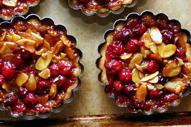 Caramel,almond, cranberry tart (smitten top 5 ever made in 2007)