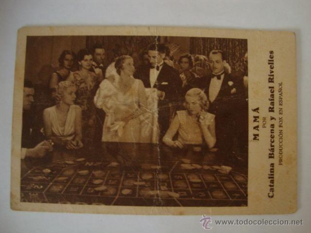 ANTIGUO FOLLETO DE MANO PELICULA MAMA CINE HABLADO EN ESPAÑOL, TEATRO CORTES ALMORADI AÑO 1933