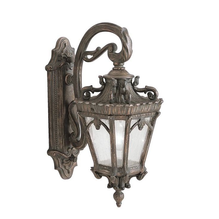 """Kichler 9356 Tournai Single Light 18"""" Tall Outdoor Wall Sconce with Seedy Glass Londonderry Outdoor Lighting Wall Sconces Outdoor Wall Sconces"""