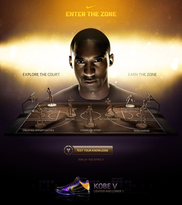 Kobe Bryant - Enter The Zone by Rasmus Wangelin, via Behance