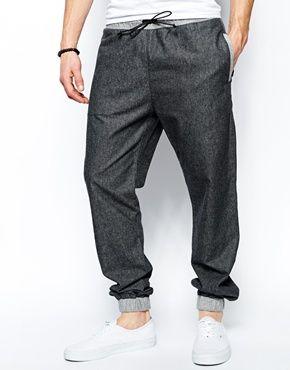 ASOS Regular Sweatpants In Woven With Contrast Waist ASOS 28 Day return