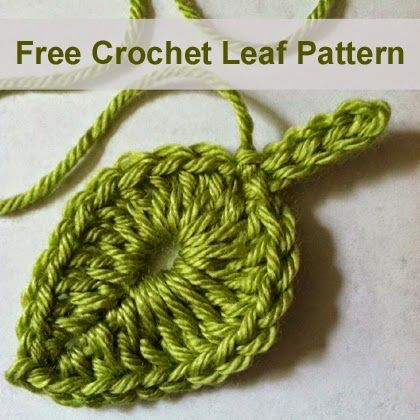 Free Crochet Leaf Pattern
