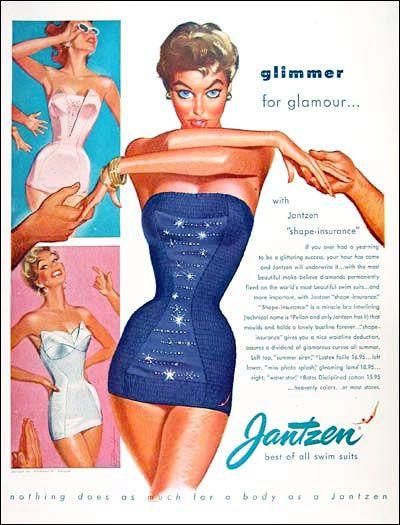 "Coilhouse » Blog Archive » Vintage Jantzen: The Pin-Up Powerhouse ... More ""skinny"" stuff ..."