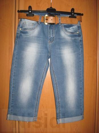 Светлые потертые джинсовые капри Lady N W0692 Днепропетровск
