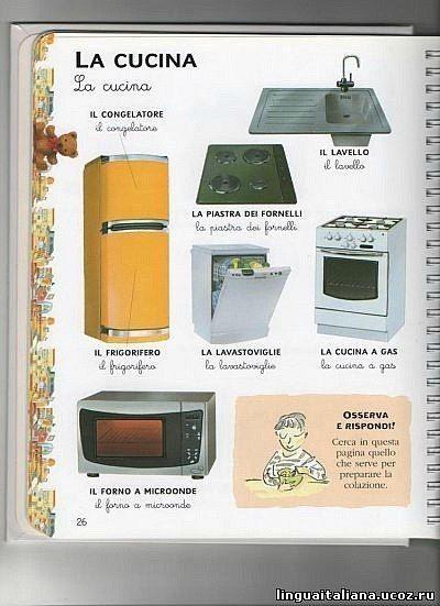 Learning Italian - The kitchen