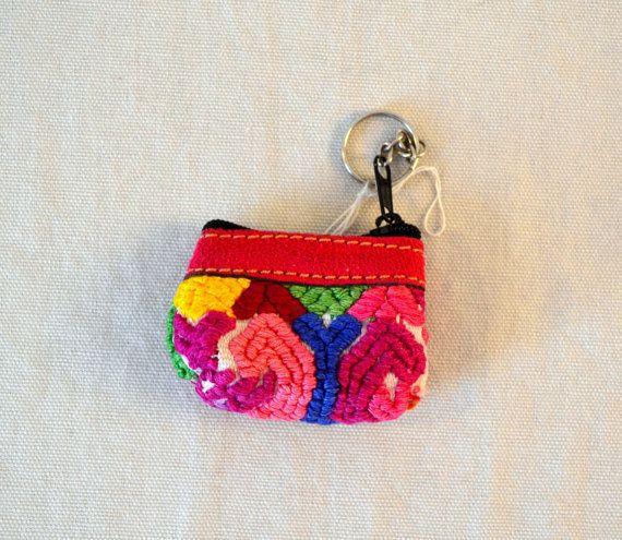 Guatemala  Handmade Tiny Purse Keychain by PIDcrafts on Etsy