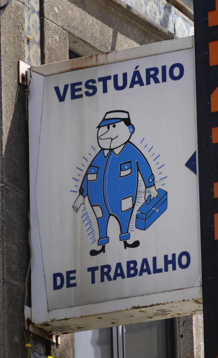 Reclam publicitari botiga de vestuari professional. Porto