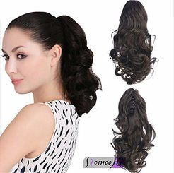 Body Wave Real Human Hair Ponytails Hairpiece Claw Clip Ponytail Hair Extensions